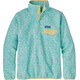 Patagonia W's Lightweight Synch Snap-T Pullover Batik Hex Big: Bend Blue